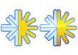 Symbole de la climatisation classique et métal (détouré)