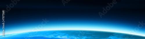 Leinwanddruck Bild blue world globe banner 2