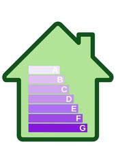 Etiquette bilan carbone du batiment (détouré)