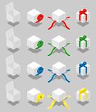 Isometric gift box - vector poster