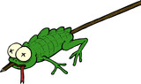 Reptile/amphibian on a stick poster