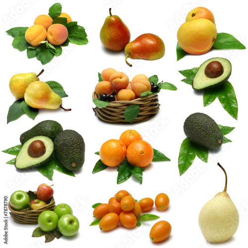 Fruit Sampler with clipping paths