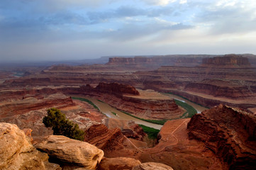 View of Colorado river running in Dead Horse point state park