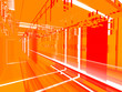 Leinwanddruck Bild abstract orange urbanism luminous background