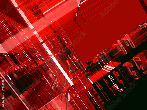Leinwanddruck Bild abstract red urbanism luminous background