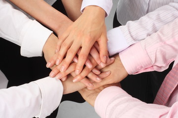 Successful Businessteam - Hands