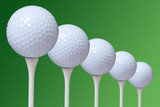 This is a stock photograph of 5 golf ball