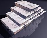 Stack of platinum bars poster