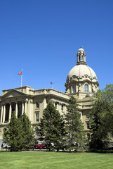 The Alberta Legislature Building.