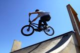 Fototapety bike acrobat during jumping