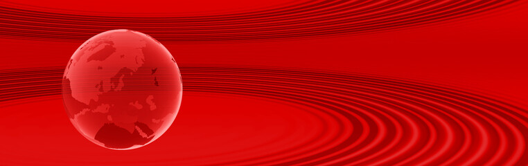 globus in rot