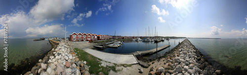 Marina in Ebeltoft, Dänemark - 360 Grad Panorama