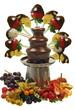 schokoladenbrunnen mit frische früchte