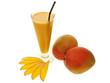 gesundes sommer getränk mango lassi mit frischen mangos