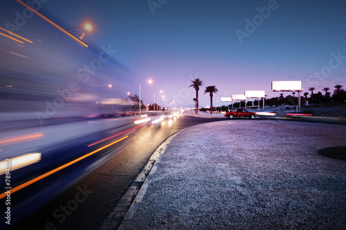 Traffic at Las Vegas Blvd., Las Vegas, USA. - 7894302