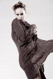 High fashion model posing fragile poster