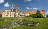 Panorama of Wawel Castle in Krakow, Poland poster
