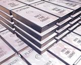stacks of platinum bars poster