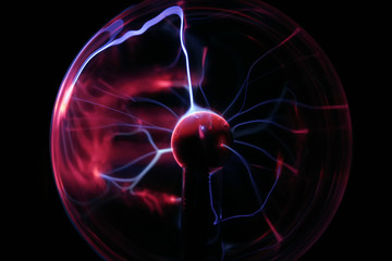 Plasma Ball, One hand and two charges