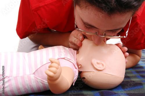 Artifical respiration demonstration - 7896909
