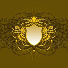 Ornate shield background