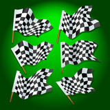 formula one flags poster