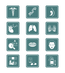 Medical symbols, specialities, human organs and more