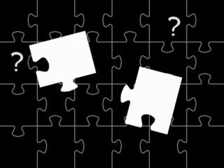 Puzzle mit Fragezeichen