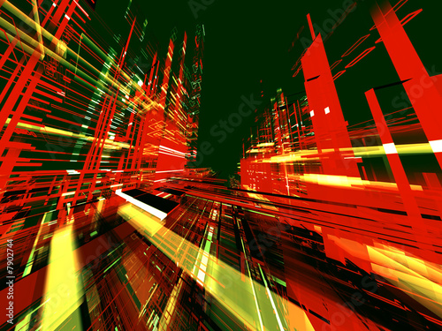 "Leinwanddruck Bild ""abstract urban color luminous background"