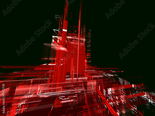 Leinwanddruck Bild abstract red urban luminous background