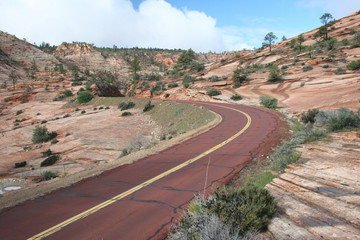 Red road of the Zion