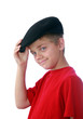 Boy tippinghis hat