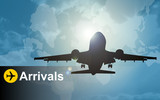 Aeroplane arrivals poster