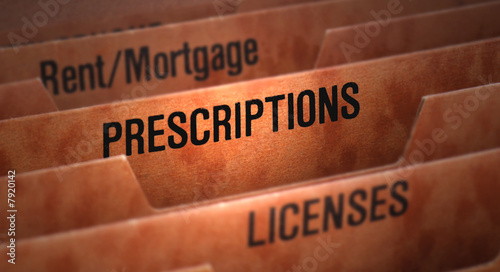 Prescriptions File in Folder