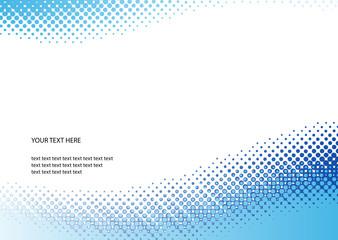 Blue halftone background. Vector illustration