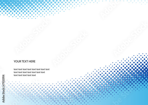 Blue halftone background. Vector illustration