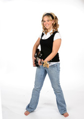 Standing Guitar Teen