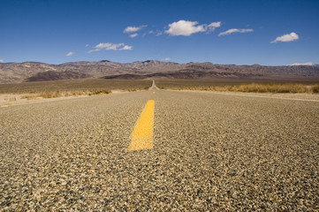 Road across Death Valley