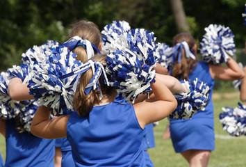 Cheerleaders Cheering at Game 9
