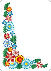 Flower  on white background.
