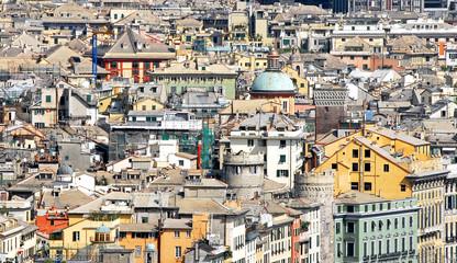 tetti del centro storico di genova