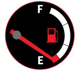Empty gas tank