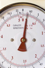 Weighing scale dial detail