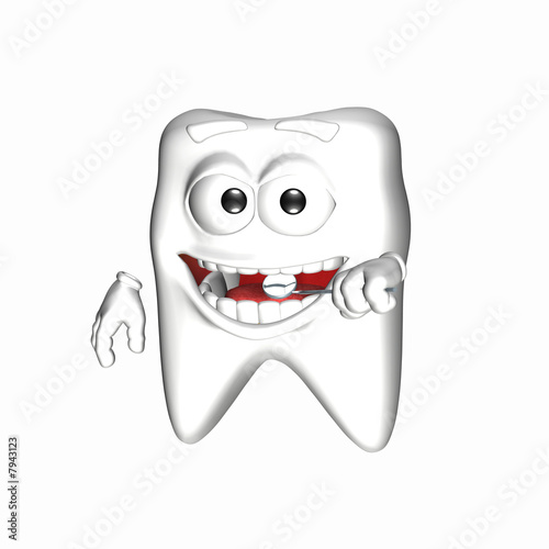 tooth clipart. Smiley Tooth - Mirror