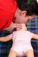 Artifical respiration demonstration