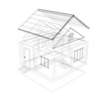 3d sketch of a house poster