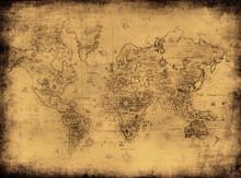 ancienne carte du monde.