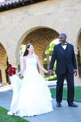 Attractive Interracial Wedding Couple