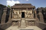 Ancient Hindu Temple at Ellora poster