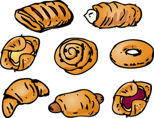 Pastries illustration